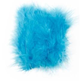 Veertjes 5-12cm ±15 stuks - Turquoise
