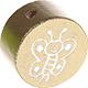 Houten kraal vlinder goud ''babyproof''