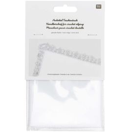 Zakdoek vierkant effen 25 x 25 cm