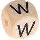 Houten Letterkraal gegraveerd 10mm   - W -