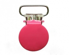 Speenclip rond Fuchsia 20mm