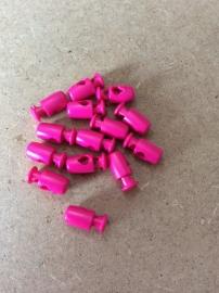 Koordstopper Fuchsia 17mm 1 gaatje