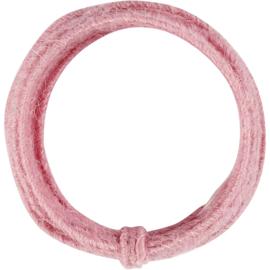 Vormbaar jutekoord 3 meter Roze