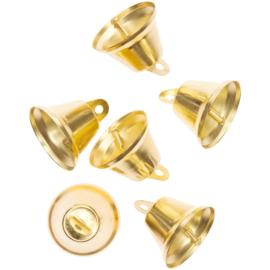 Rico kerstklokjes 3,5 cm goudkleur - 6 stuks