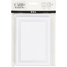 Borduurkaarten met envelop - 6 stuks