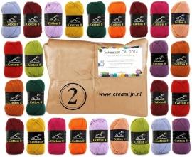 Cal 2014 pakket Scheepjes Cotton 8 Pakket 2  verzendkosten vrij, direct leverbaar!!!