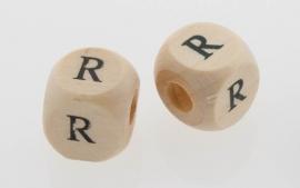 Letterkraal hout letter R