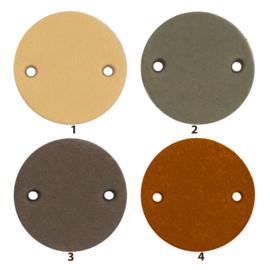Durable Leren labels rond 2cm - per 2 stuks