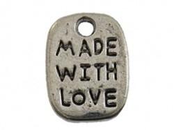 Metaal rechthoek made with love