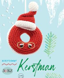 Garen en fourniturenpakket Kerstdonut Kerstman
