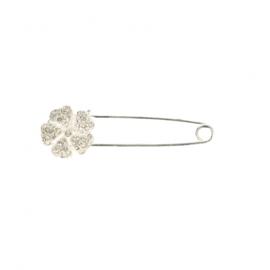 Kiltspeld met bloem - zilver