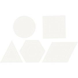 Kruissteken karton 5 vormen - 4 van elk ( 20 stuks )