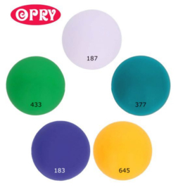 Opry Siliconen kralen 5 kralen van 15mm AST 4 - 5 kleuren