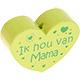 Houten kraal ''ik hou van mama'' lime ''babyproof''