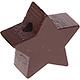 Houten kraal Mini-ster bruin effen ''babyproof''
