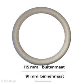 Houten beuken ring 115mm x 12mm