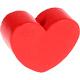 Houten kraal Mini-hart rood effen ''babyproof''