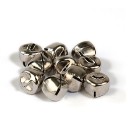 Belletjes zilverkleurig 12mm - 10 stuks - mooie kwaliteit