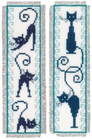 Bladwijzer kit Vrolijke Poezenbende (set van 2)