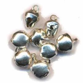 Belletjes zilverkleurig 8mm - 30 stuks