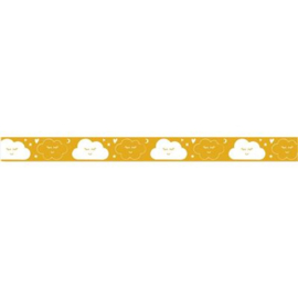 Lint met wolken geel 15 mm