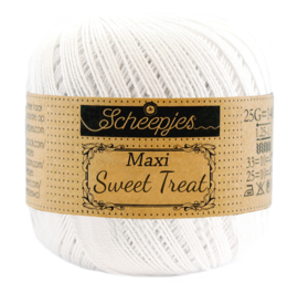 Scheepjes Maxi  Sweet Treat (Bonbon) 106 Snow White (wit)