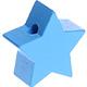 Houten kraal Ster hemelblauw effen ''babyproof''