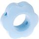 Houten bloemkraal babyblauw  ''babyproof''