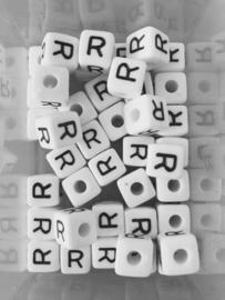 Letterkraal acryl wit R