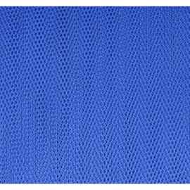 Tule Licht koningsblauw afm: 150cm breed per meter!