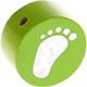 Houten kraal babyvoetjes lichtgroen ''babyproof''