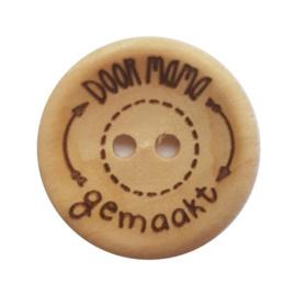 Houten knoop: Door mama gemaakt 20mm