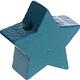 Houten kraal Mini-ster jade effen ''babyproof''