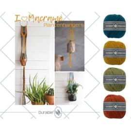 Macrame pakket 3 plantenhangers in 1 pakket