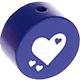 Houten kraal hart cobalt ''babyproof''
