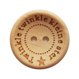 Houten knoop Twinkle Twinkle kleine ster 20mm