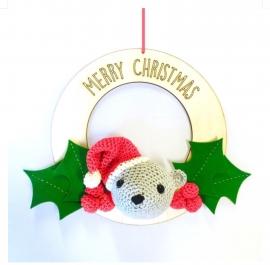 Haakpakket Kerstkrans Beertje Hardicraft