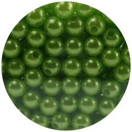 30 Parelkralen acryl Appelgroen - 8mm