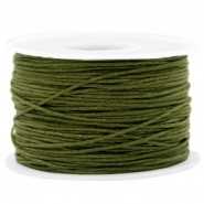 Wax koord 1 mm Army Green