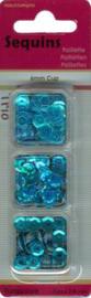 Trio doosje Pailletten turquoise - 6mm