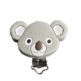 Siliconen speenclip Koala - Grijs