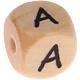 """Houten gegraveerde Letter - Cijferkralen 10mm 'babyproof"""""""