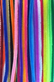 Chenilledraad 9 mm Gekleurde draad 26 stuks assortiment