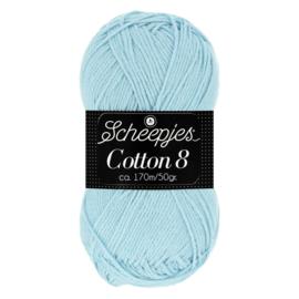 Cotton 8 Scheepjes 652 Lichtblauw