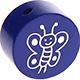 Houten kraal vlinder cobalt ''babyproof''