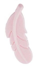 Siliconen veertje ter decoratie Licht roze