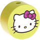 Houten kraal rond ''Hello Kitty'' lime ''babyproof''