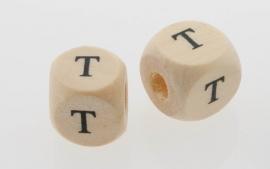 Letterkraal hout letter T
