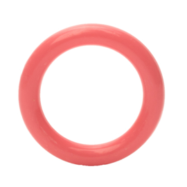 Plastic Ringetje 40 mm (Flamingo) Roze