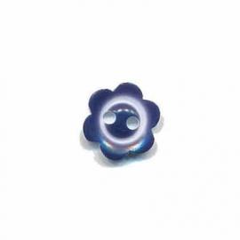 Bloemknoopje  10 mm Blauw met randje glossy